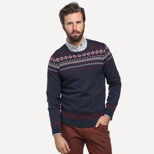 Frank & Oak Wool Blend Fair Isle Jumper Sweater